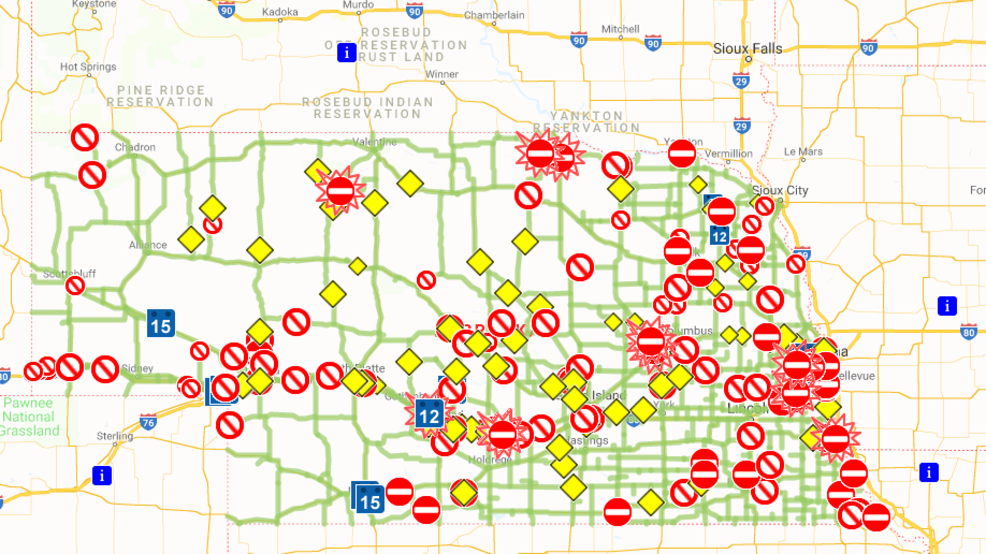 Nebraska 511 maps out road conditions for residents | KFXL